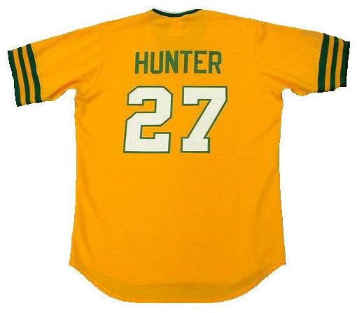 Catfish Hunter 1973 Athletics Throwback Jersey