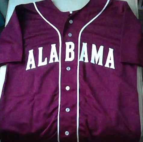 Alabama Crimson Tide #8 Baseball Jersey (In-Stock-Closeout) Size Large/44 Inch Chest