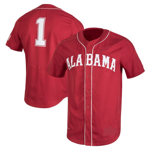 Customizable Alabama Crimson Tide Style Custom Sewn College Baseball Jersey