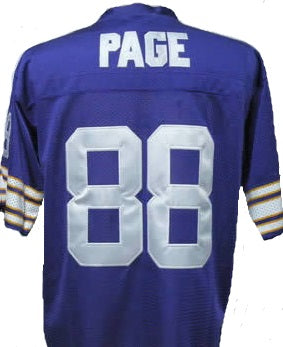 new concept 75d69 b7c2b Alan Page Minnesota Vikings Throwback Football Jersey