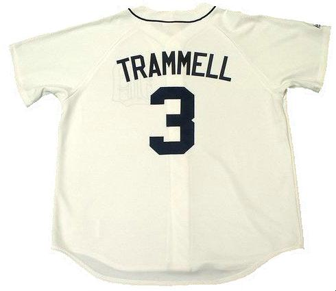 Alan Trammell Detroit Tigers Home Throwback Jersey