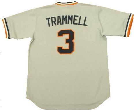Alan Trammell Detroit Tigers Throwback Jersey