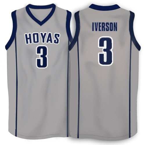 Allen Iverson Georgetown Hoyas College Throwback Jersey