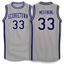 Alonzo Mourning Georgetown Hoyas College Basketball Throwback Jersey