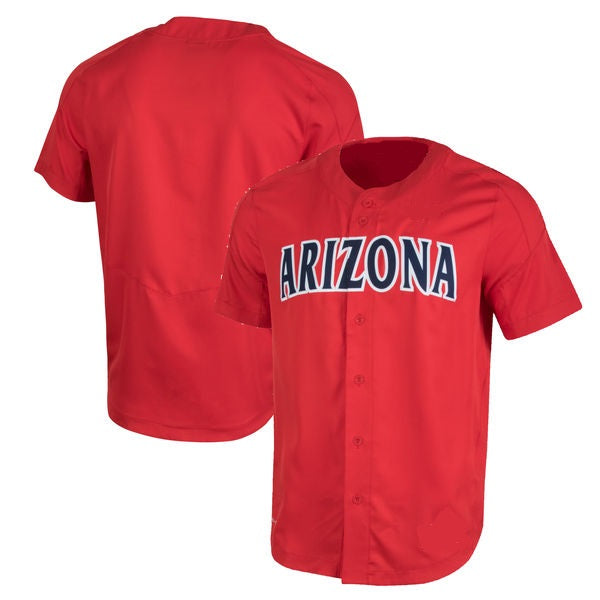 Customizable Arizona Wildcats College Style Baseball Jersey.