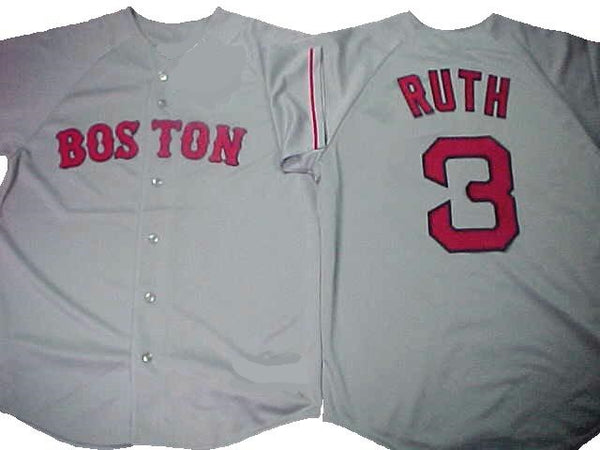 Babe Ruth Boston Red Sox Throwback Road Jersey