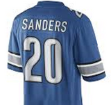 Barry Sanders Detroit Lions Throwback Football Jersey