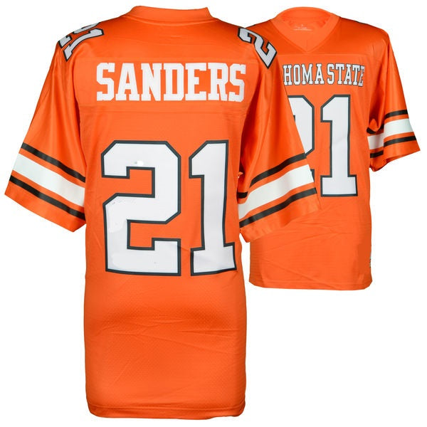 Barry Sanders Oklahoma State Cowboys College Throwback Football Jersey.