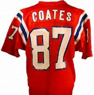 quality design c25f9 fbe1e Ben Coates New England Patriots Throwback Football Jersey