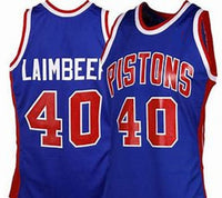 Bill Laimbeer Pistons Throwback Jersey