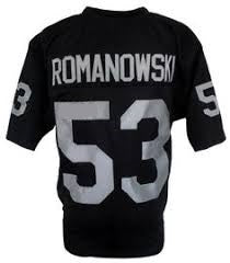 Bill Romanowski Oakland Raiders Throwback Football Jersey