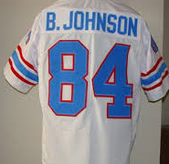 Billy White Shoes Johnson Houston Oilers Throwback Football Jersey