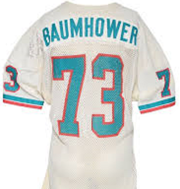 Bob Baumhower Miami Dolphins Throwback Football Jersey