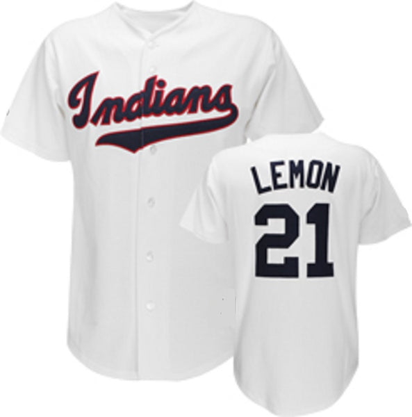 Bob Lemon Cleveland Indians Throwback Jersey