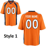 Denver Broncos Customizable Pro Style Football Jersey