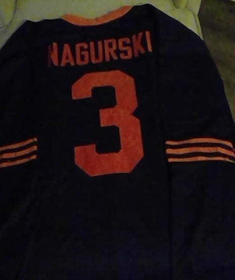 Bronko Nagurski Chicago Bears Long Sleeve Throwback Jersey (In-Stock-Closeout) Size 4XL/60 Inch Chest