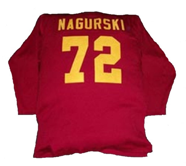 Bronko Nagurski University of Minnesota Gophers Style Custom Long Sleeve Throwback Jersey