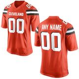 Cleveland Browns Orange Customizable Football Jersey