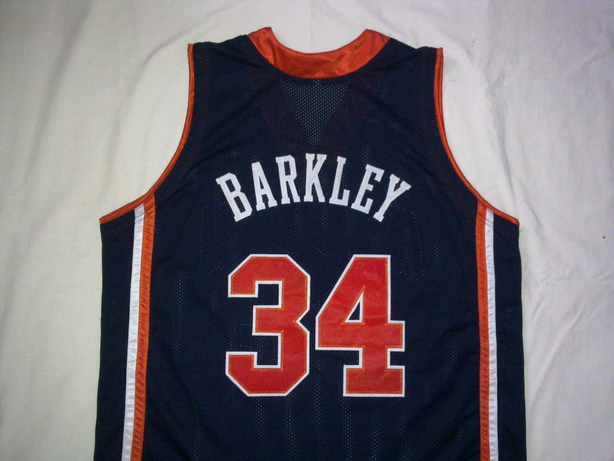 reputable site 897d4 f40a9 Charles Barkley Auburn Tigers College Throwback Basketball Jersey.