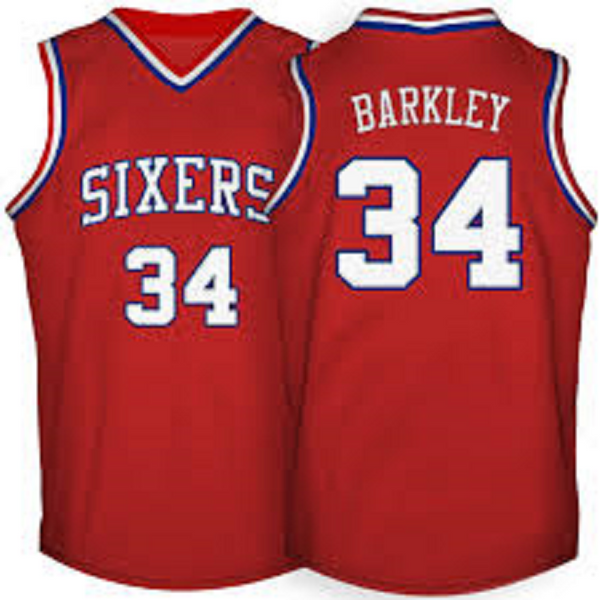 Charles Barkley Philadelphia 76ers Throwback Basketball Jersey