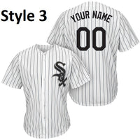 Chicago White Sox Customizable Pinstripe Baseball Jersey