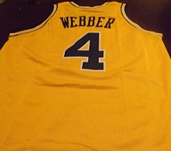 competitive price a3024 4b8eb Chris Webber Michigan Wolverines College Basketball Throwback Jersey