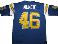 finest selection 99502 831d2 Chuck Muncie San Diego Chargers Throwback Football Jersey