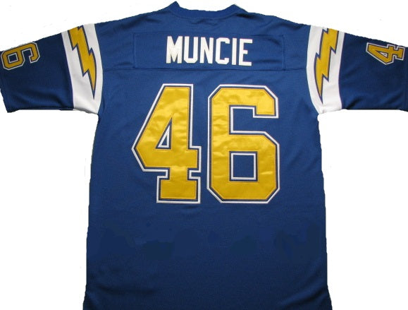 Chuck Muncie San Diego Chargers Throwback Football Jersey