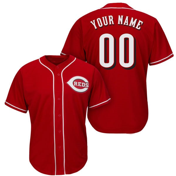 Cincinnati Reds Customizable Custom Baseball Jersey