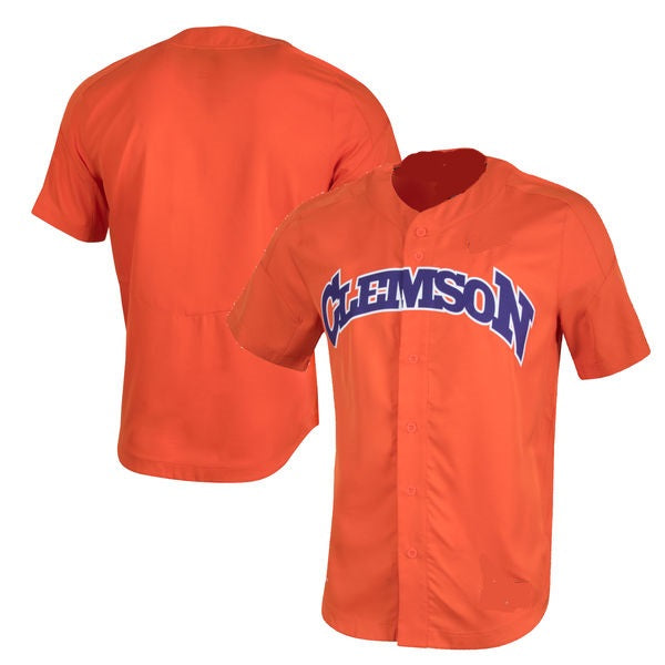 Clemson Tigers Customizable College Baseball  Jersey