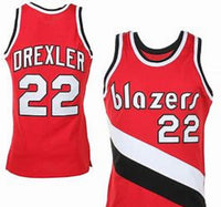 Clyde Drexler Portland Trailblazers Throwback Basketball Jersey
