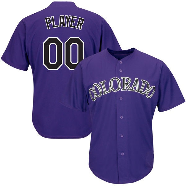 Colorado Rockies Customizable Baseball Jersey