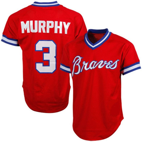 Dale Murphy 1980 Braves Throwback Baseball Jersey
