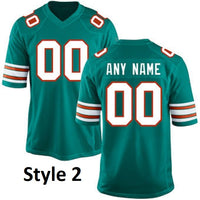 Customizable Miami Dolphins Pro Style Football Jersey