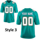 Miami Dolphins Customizable Football Jersey
