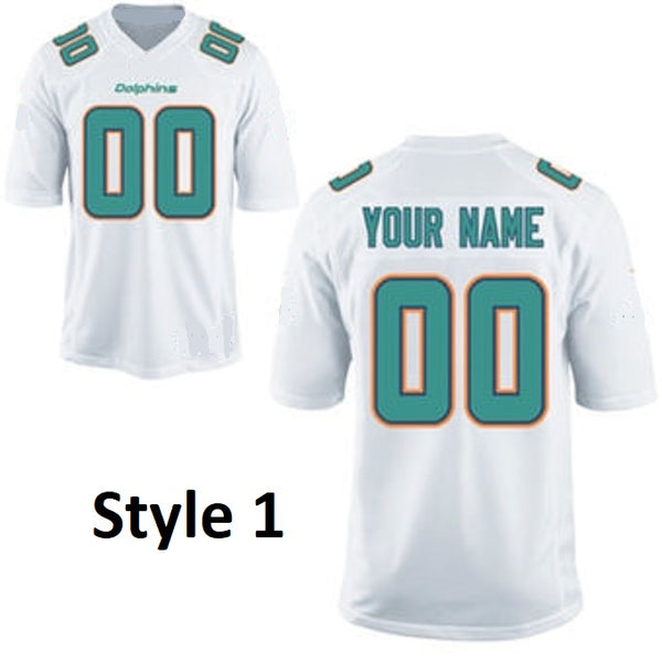 Miami Dolphins Style Customizable Football Jersey