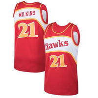 Dominique Wilkins Atlanta Hawks 1986-87 Throwback Jersey