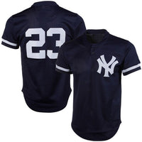 Don Mattingly New York Yankees Blue Road Throwback Jersey
