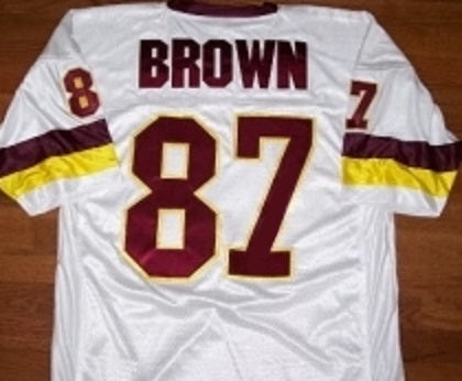 buy popular 87523 0a69c Downtown Charlie Brown Washington Redskins Throwback Football Jersey