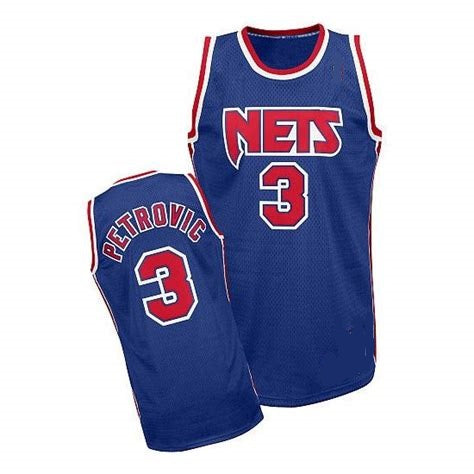 Drazen Petrovic New Jersey Nets Basketball Jersey