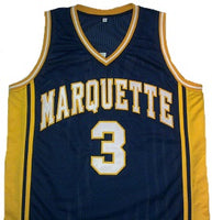 new concept 9104d 9b75b Dwayne Wade Marquette Golden Eagles College Basketball Throwback Jersey