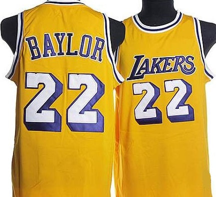 Elgin Baylor LA Lakers Throwback Basketball Jersey