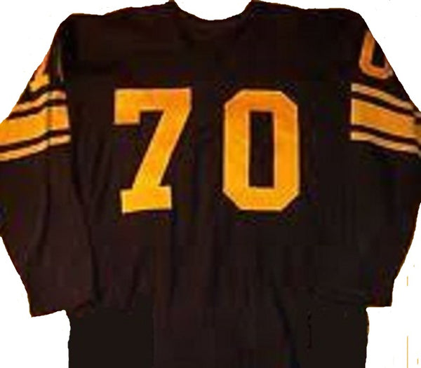 official photos 5ac5e d3162 Ernie Stautner Vintage Style Pittsburgh Steelers Long Sleeve Throwback  Football Jersey