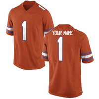 Florida Gators Style Customizable Orange Football Jersey