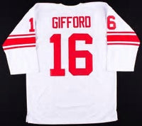 Frank Gifford Vintage Style New York Giants Long Sleeve Throwback Football Jersey