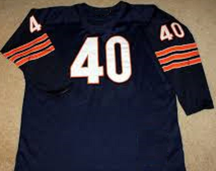 Gale Sayers Vintage Style Chicago Bears Long Sleeve Jersey – Best ...