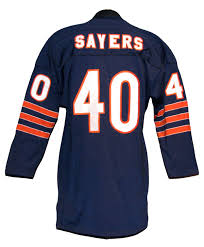 Gale Sayers Vintage Style Chicago Bears Long Sleeve Jersey