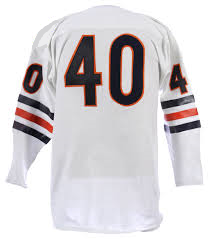 best service 70289 f26f4 Gale Sayers Vintage Style Chicago Bears Long Sleeve Throwback Football  Jersey