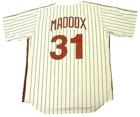 Garry Maddox 1980 Phillies Throwback Jersey