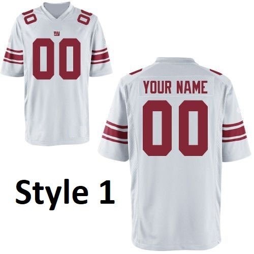 New York Giants Style Customizable Football Jersey